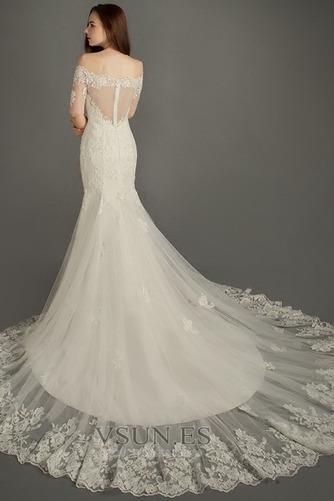 Vestido de novia Elegante Cremallera Escote con abertura Natural Encaje - Página 2
