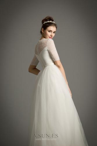 Vestido de novia Drapeado Natural primavera Corte-A Joya Cremallera - Página 3