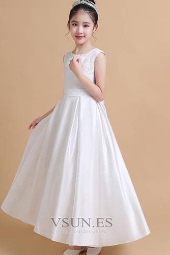 Vestido niña ceremonia Satén Joya Elegante primavera Hasta el Tobillo Encaje - Página 4