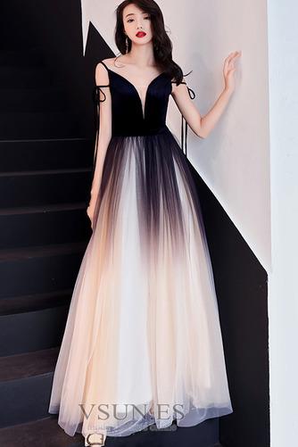 Vestido de fiesta Elegante Corte-A Natural Espalda Descubierta Escote en V - Página 4