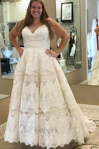 Vestido de novia Sin mangas Reloj de Arena Encaje Cremallera Fuera de casa - Página 2