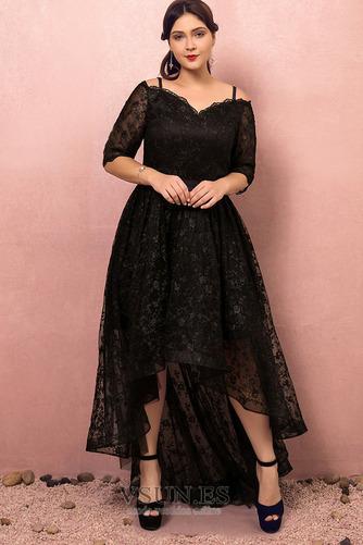 Vestido de fiesta Escote con Hombros caídos Asimètrico Cordón Elegante - Página 1