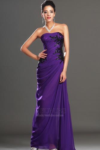 Vestido de noche Encaje Glamouroso Natural Frontal Dividida Apliques - Página 5