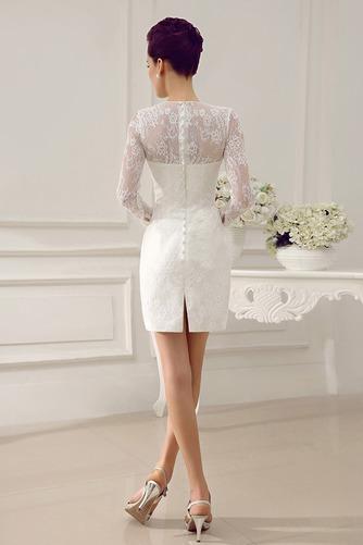 Vestido de novia Clasicos Otoño Asimètrico Cristal largo Cremallera - Página 5