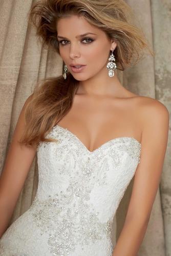Vestido de novia Corte Sirena Colores Cremallera Sala Cola Capilla Escote Corazón - Página 3