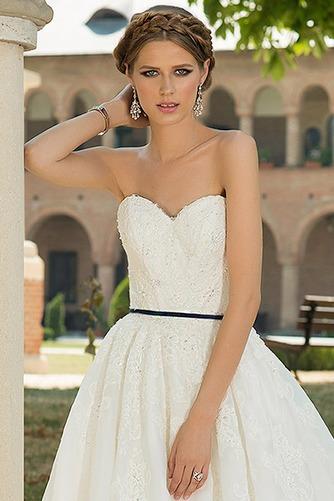Vestido de novia Sencillo Sin mangas primavera Cola Capilla Corte-A - Página 3