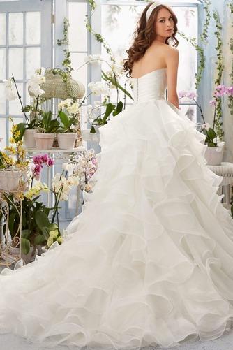 Vestido de novia Corte princesa largo Sin mangas Escote Corazón Otoño - Página 2