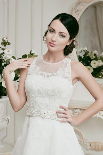 Vestido de novia Corto Joya Alto cubierto Fuera de casa tul Apliques - Página 3