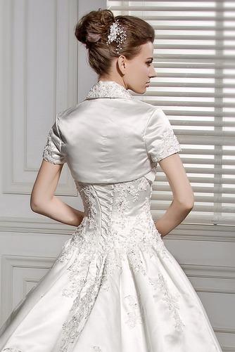 Vestido de novia Cintura Baja Cordón Con Chaqueta Satén primavera Manga corta - Página 6