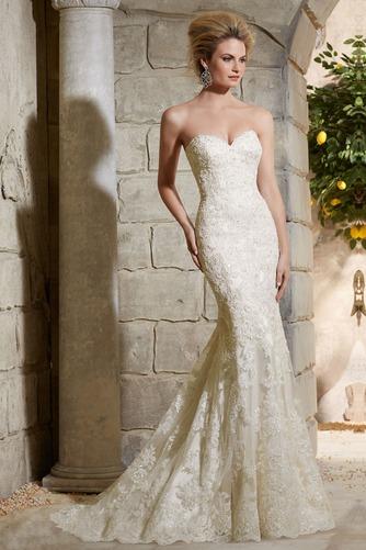 Vestido de novia Moderno Sala Natural Cola Capilla Espalda Descubierta - Página 1