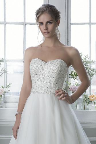 Vestido de novia Colores Otoño Escote Corazón Cola Capilla Sin mangas - Página 3