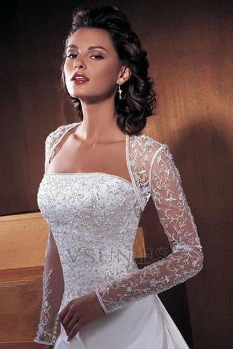 Vestido de novia Con Chaqueta Mangas Illusion Sin tirantes Reloj de Arena - Página 1