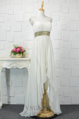 Vestido de noche Asimétrico Dobladillo Abalorio Moderno Frontal Dividida - Página 2