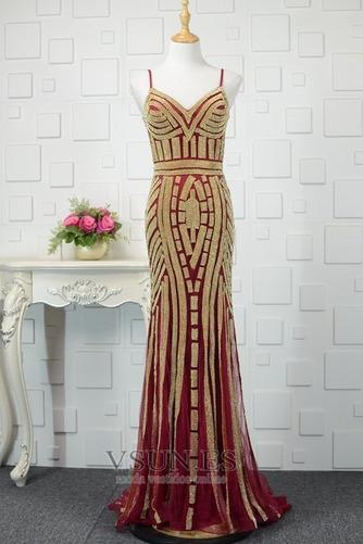 Vestido de noche Colores Escote de Tirantes Espaguetis Espalda medio descubierto - Página 7