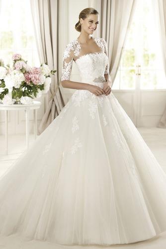 Vestido de novia Corte princesa Otoño Sin tirantes Iglesia Cremallera - Página 1