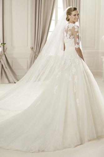 Vestido de novia Corte princesa Otoño Sin tirantes Iglesia Cremallera - Página 2