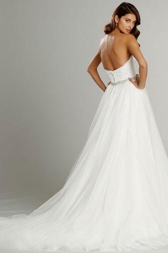 Vestido de novia Sin mangas largo Espalda Descubierta Natural Satén - Página 5