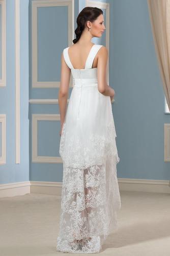 Vestido de novia Reloj de Arena Tiras anchas Fuera de casa Encaje Cremallera - Página 3