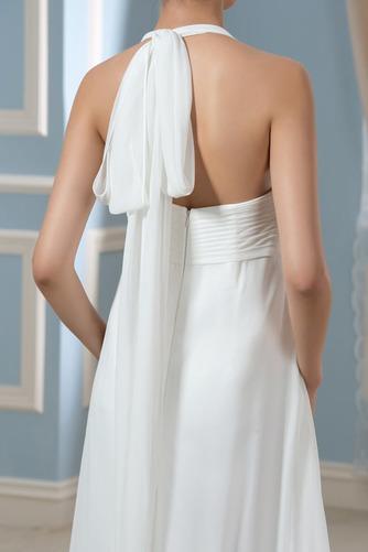 Vestido de novia Sin mangas Hasta el suelo Tallas grandes Drapeado Blusa plisada - Página 4