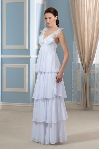 Vestido de novia Embarazadas Sin mangas Cola Barriba Escote en V Playa - Página 2