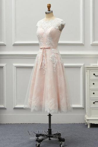 Vestido de novia Encaje Cremallera Verano Glamouroso Natural Falta - Página 7