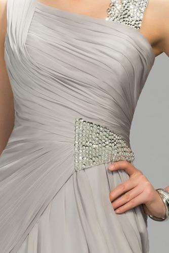 Vestido de noche Elegante Escote Asimètrico Natural Dobladillos Corte-A - Página 4