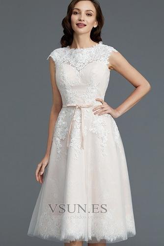 Vestido de novia Encaje Cremallera Verano Glamouroso Natural Falta - Página 5