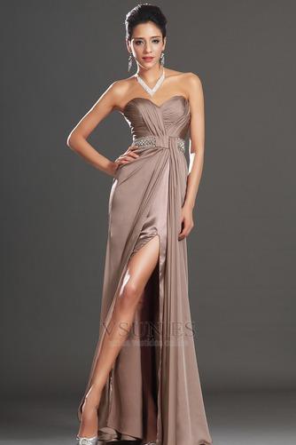 Vestido de noche Abertura en el muslo sexy Corte Recto Cremallera Verano - Página 1