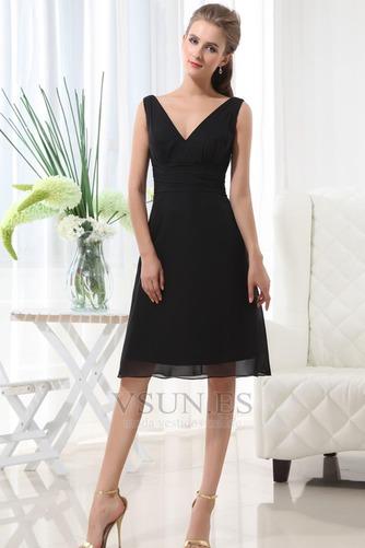 Vestido de dama de honor 2015 Fajas Escote en V Cremallera Otoño Gasa - Página 1