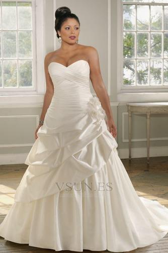 Vestido de novia 2015 Blusa plisada Hasta el suelo Flores Sin mangas - Página 1