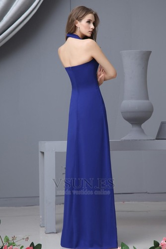 Vestido de dama de honor Hasta el suelo Elegante Espalda medio descubierto Invierno - Página 4