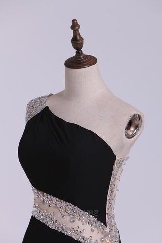 Vestido de cóctel Corte Recto Un sólo hombro Corto Drapeado Natural Delgado - Página 9