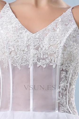 Vestido de novia Sin mangas Alto Bajo Escote de Tirantes Espaguetis - Página 6