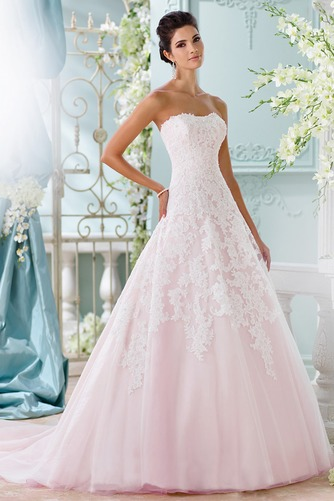 Vestido de novia Sin tirantes Cola Capilla Corte-A Iglesia Encaje Formal - Página 1