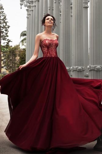 Vestido de novia Encaje Sin mangas Fuera de casa Cordón Natural Corte-A - Página 1