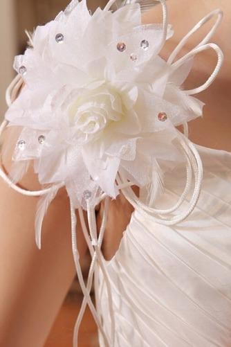 Vestido de novia Colores Sala Flores largo Un tirante con flor Sin mangas - Página 5
