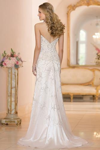 Vestido de novia Espectaculares Natural largo primavera Sin mangas Apliques - Página 2