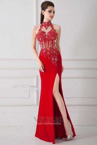 Vestido de noche primavera Corte Sirena Sin mangas Elegante Falta Espalda medio descubierto - Página 1