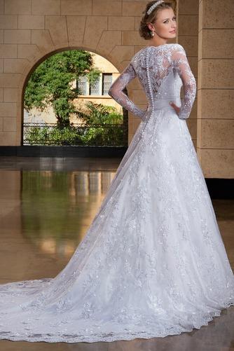 Vestido de novia Clasicos Encaje Alto cubierto Mangas Illusion Corte-A - Página 2