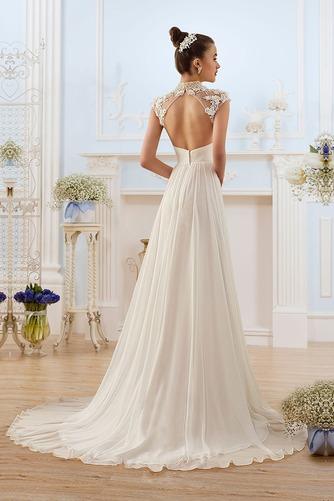 Vestido de novia Elegante Escote con cuello Alto Espalda medio descubierto - Página 1