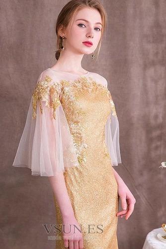 Vestido de noche Con lentejuelas Escote con Hombros caídos Cremallera - Página 4