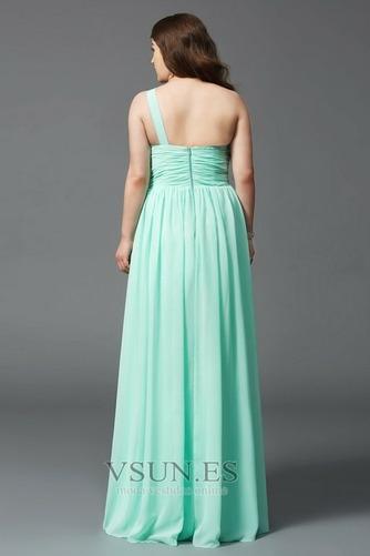 Vestido de noche Elegante Hasta el suelo Drapeado Blusa plisada Natural - Página 2