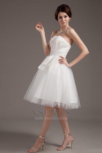 Vestido de novia Romántico Corte princesa Hasta la Rodilla Tallas pequeñas - Página 3