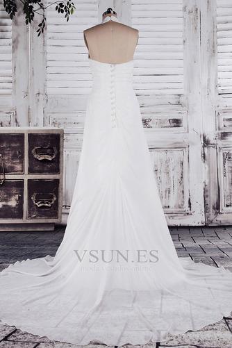 Vestido de novia Imperio Sin mangas Otoño Tallas pequeñas Cola Corte - Página 3