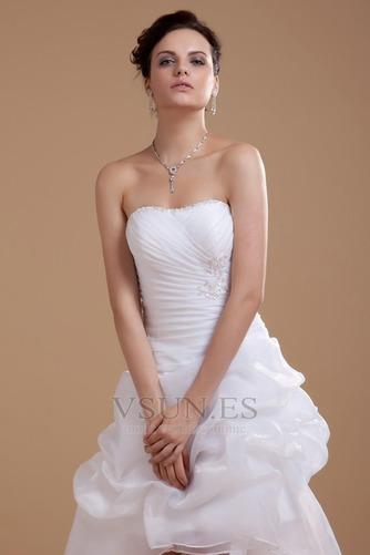 Vestido de novia informales Asimètrico Falta Blanco Espalda medio descubierto - Página 5