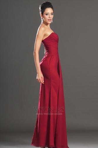 Vestido de noche Elegante Blusa plisada Corte Recto Plisado Hasta el suelo - Página 4
