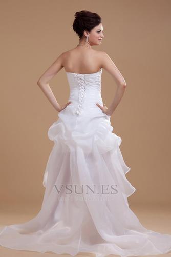 Vestido de novia informales Asimètrico Falta Blanco Espalda medio descubierto - Página 4