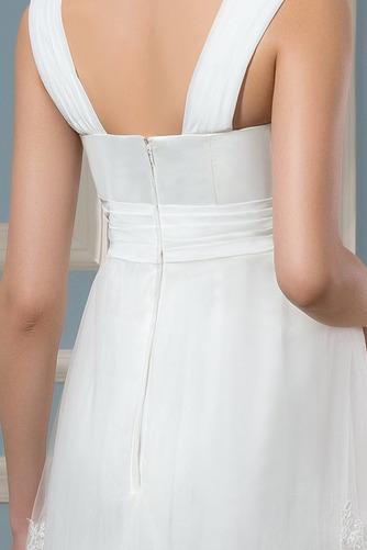 Vestido de novia Reloj de Arena Tiras anchas Fuera de casa Encaje Cremallera - Página 5