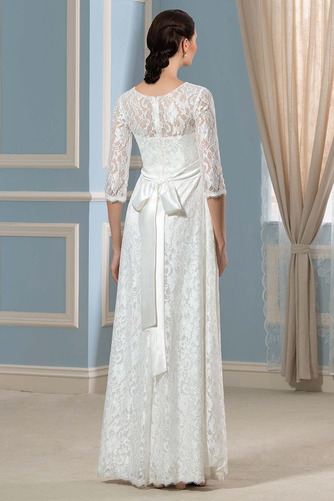 Vestido de novia Tallas grandes La mitad de manga Imperio Cremallera - Página 2