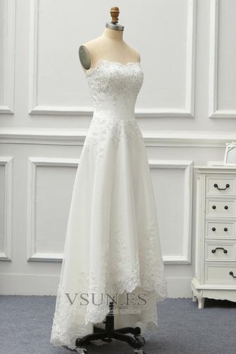 Vestido de novia Sin tirantes Sin mangas Corpiño Acentuado con Perla - Página 4
